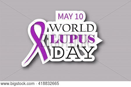 World Lupus Day Design Banner For Social Media, Campaign, And Blog Post. Lupus Autoimmune Disease Ve