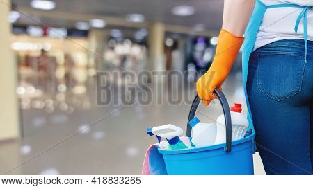 Cleaning Service Concept For Large Premises And Office Centers.