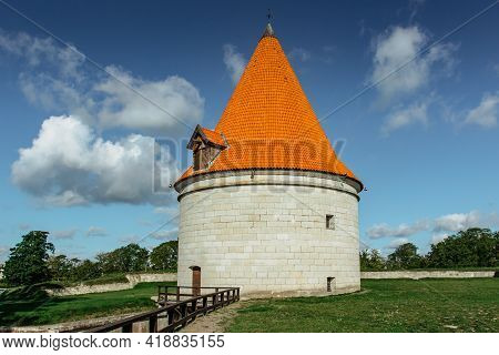 Kuressaare Episcopal Castle On Saaremaa Island, Estonia.medieval Fortification In Late Gothic Style