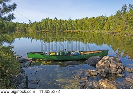 Ready To Explore On A Sunny Day In The North Woods On The Kekekabec Ponds In The Boundary Waters In