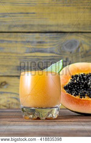Glass Of Papaya Caliente