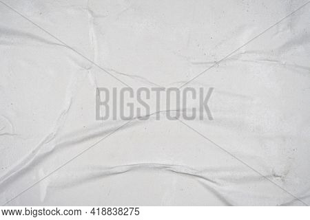 White Old Ripped Torn Paper Background. Blank Creased Crumpled Dirty Posters Grunge Textures Placard