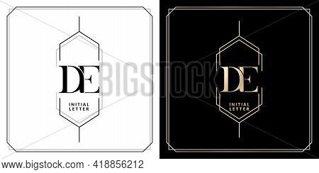 De Initial Letter And Graphic Name, De Monogram, For Wedding Couple Monogram, Company And Icon Busin