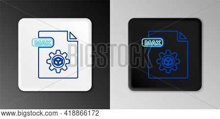 Line Max File Document. Download Max Button Icon Isolated On Grey Background. Max File Symbol. Color