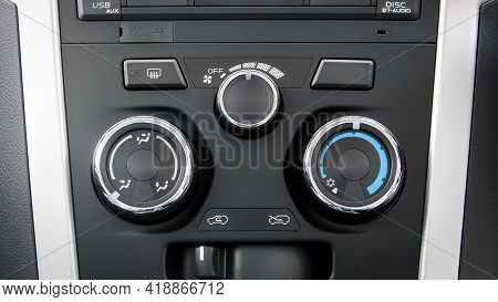 The Air Conditioner Control Panel Of Car