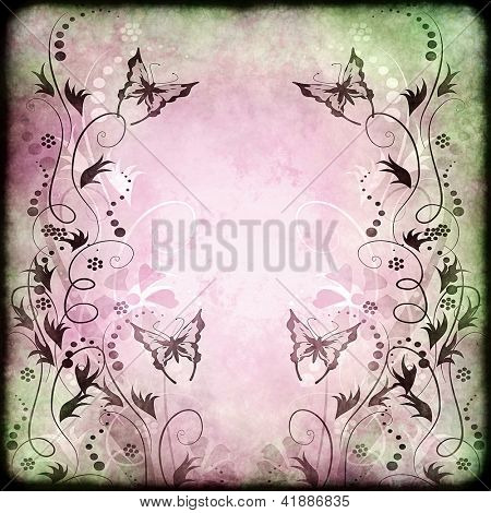 Vintage butterfly background