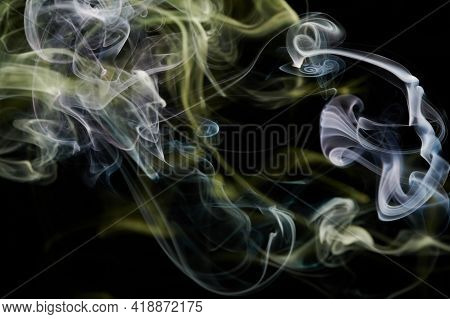Yellow Smoke Abstract Curves