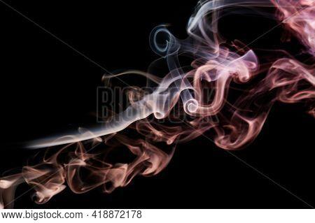 Orange Color Transparent Smoke Swirls