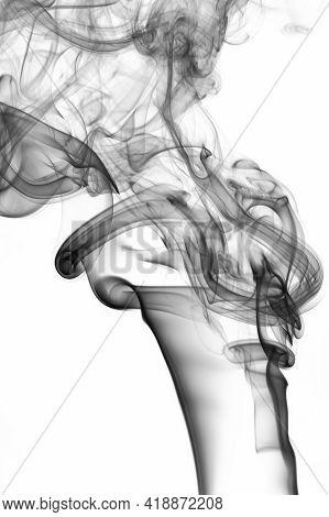 Smooth Grey Abstract Smoke Swirl