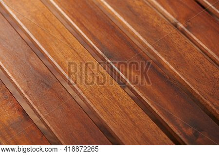 Brown Wooden Plank In Row