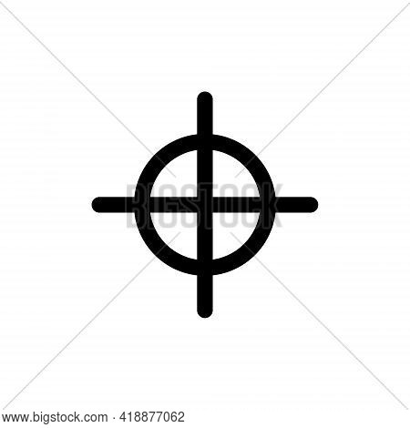 Aim Icon In Trendy Flat Style Isolated On White Background. Aim Icon Symbol For Your Web Site Design
