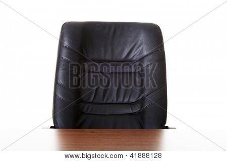 Office chair and desk , isolated on white