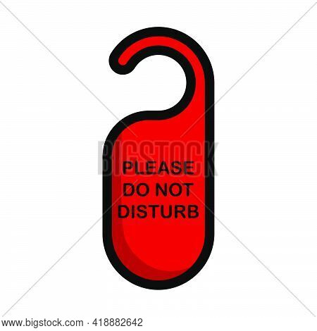 Don't Disturb Tag Icon. Editable Bold Outline With Color Fill Design. Vector Illustration.