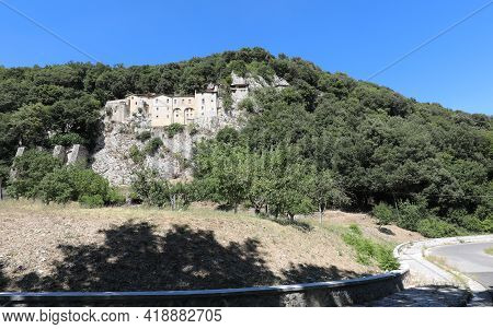 Ancient Convent In The Village Of Greccio Where St. Francis Of Assisi Invented The First Crib In The