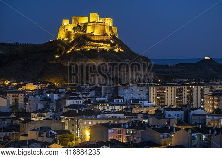 Monzón Castle, Castle-fortress Of Muslim Origin, Monzón Huesca, Spain