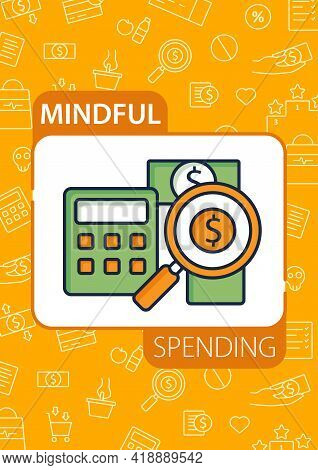 Budgeting Brochure.creating Plan To Spend Money.rational Money Distribution.cash Counting Template.