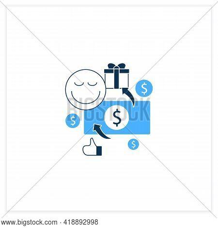 Unconditional Payment Flat Icon. Mandatory Contribution. Profitable Investment. Universal Basic Inco