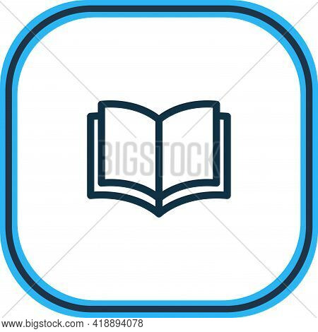 Vector Illustration Of Publishing Icon Line. Beautiful Read Element Also Can Be Used As Study Icon E