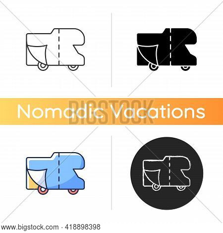 Rv Covers Icon. Roadtrip Gear. Trailer Service. Campground For Vans. Nomadic Lifestyle. Camping Trip