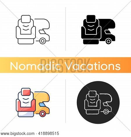 Rv Furniture Icon. Seating For Trailer. Recliner For Van. Roadtrip Gear. Nomadic Lifestyle. Camping