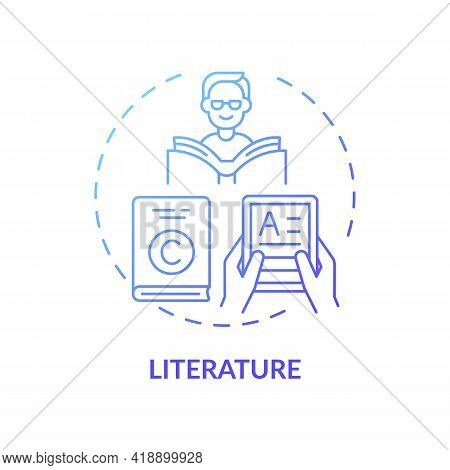 Literature Concept Icon. Copyright Object Idea Thin Line Illustration. Expression In Writing. Intell
