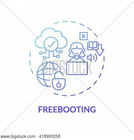 Freebooting Concept Icon. Copyright Infringement Type Idea Thin Line Illustration. Piracy, Plunderin