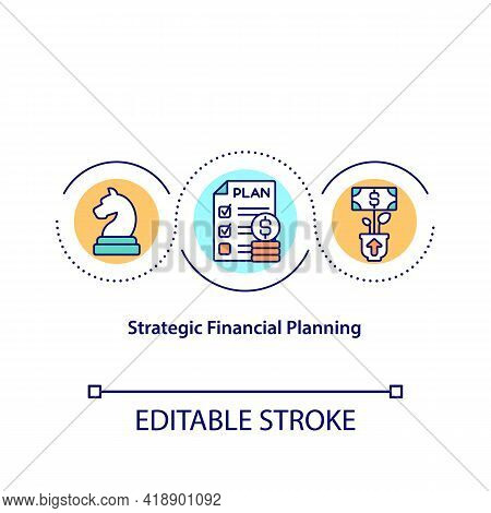 Strategic Financial Planning Concept Icon. Creating Budget For Living. Financial Smart Tips. Money I