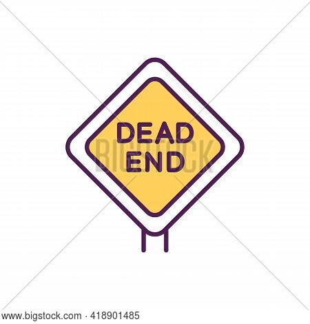 Dead-end Job Rgb Color Icon. Career Transition Cause. No Development And Impossibility To Growth. St