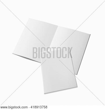 3d A4 Flier Or Leaflet Hald Fold