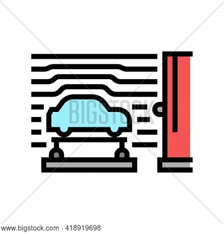 Wind Tunnel Car Color Icon Vector. Wind Tunnel Car Sign. Isolated Symbol Illustration