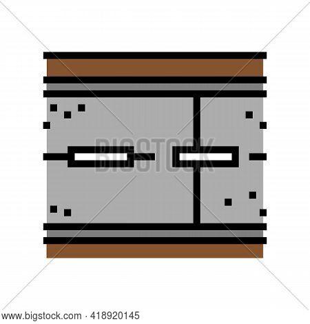 Road Concrete Color Icon Vector. Road Concrete Sign. Isolated Symbol Illustration