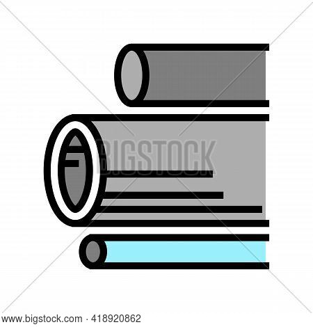 Water Pipes Concrete Color Icon Vector. Water Pipes Concrete Sign. Isolated Symbol Illustration