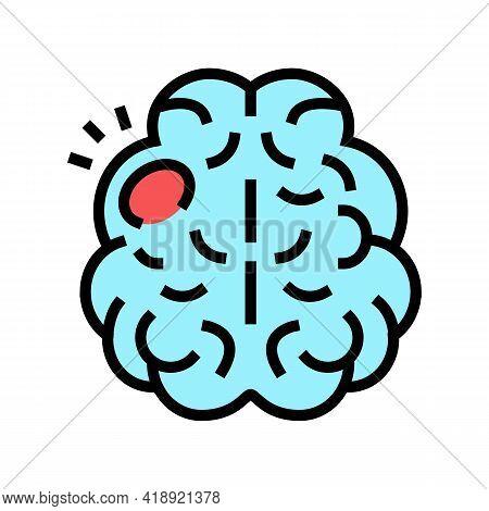 Stroke Brain Disease Color Icon Vector. Stroke Brain Disease Sign. Isolated Symbol Illustration
