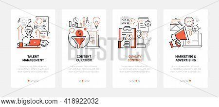 Business And Marketing - Line Design Style Web Banners