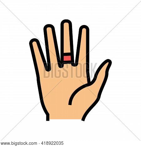 Contact Dermatitis Color Icon Vector. Contact Dermatitis Sign. Isolated Symbol Illustration
