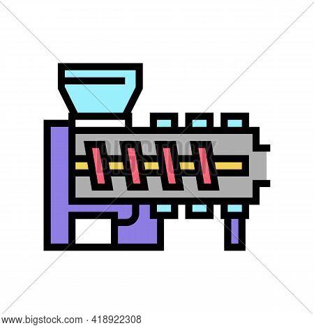 Hot Melt Extrusion Pharmaceutical Production Color Icon Vector. Hot Melt Extrusion Pharmaceutical Pr