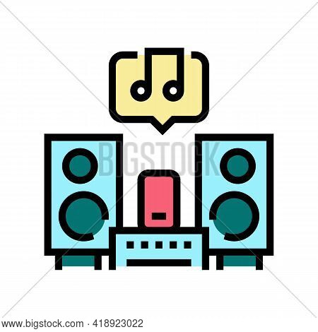 Music Leisure Color Icon Vector. Music Leisure Sign. Isolated Symbol Illustration