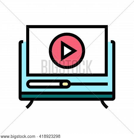 Movies Leisure Color Icon Vector. Movies Leisure Sign. Isolated Symbol Illustration