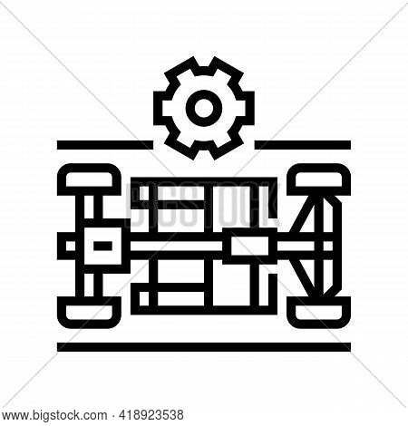 Chassis Selection Car Line Icon Vector. Chassis Selection Car Sign. Isolated Contour Symbol Black Il