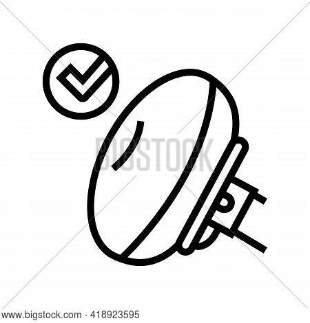 Airbag Testing Car Line Icon Vector. Airbag Testing Car Sign. Isolated Contour Symbol Black Illustra