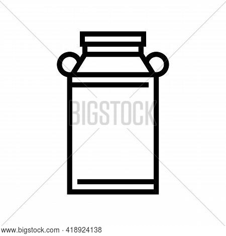 Milk Can Line Icon Vector. Milk Can Sign. Isolated Contour Symbol Black Illustration