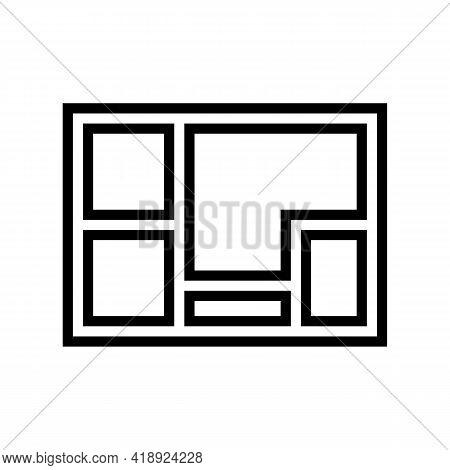 Foundation Concrete Line Icon Vector. Foundation Concrete Sign. Isolated Contour Symbol Black Illust
