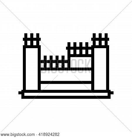 Structure With Reinforcement Concrete Line Icon Vector. Structure With Reinforcement Concrete Sign.