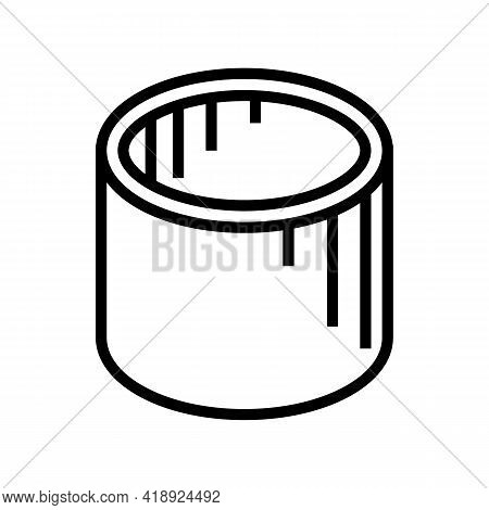 Well Rings Concrete Line Icon Vector. Well Rings Concrete Sign. Isolated Contour Symbol Black Illust