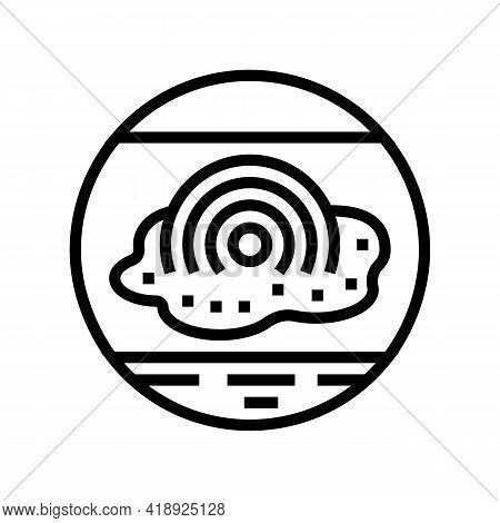 Pain Eczema Line Icon Vector. Pain Eczema Sign. Isolated Contour Symbol Black Illustration