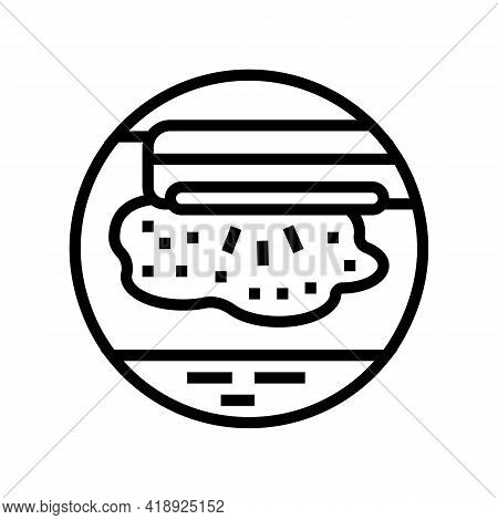 Phototherapy Treat Line Icon Vector. Phototherapy Treat Sign. Isolated Contour Symbol Black Illustra