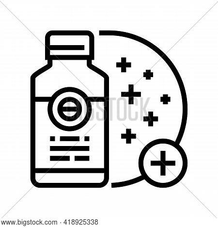 Skin Regeneration Medicament Line Icon Vector. Skin Regeneration Medicament Sign. Isolated Contour S