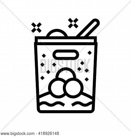 Ice Cream Leisure Line Icon Vector. Ice Cream Leisure Sign. Isolated Contour Symbol Black Illustrati