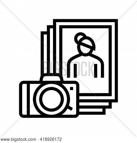 Photo Leisure Line Icon Vector. Photo Leisure Sign. Isolated Contour Symbol Black Illustration