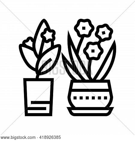 Flowers Leisure Line Icon Vector. Flowers Leisure Sign. Isolated Contour Symbol Black Illustration